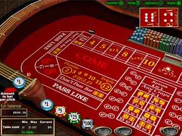 club world casino craps