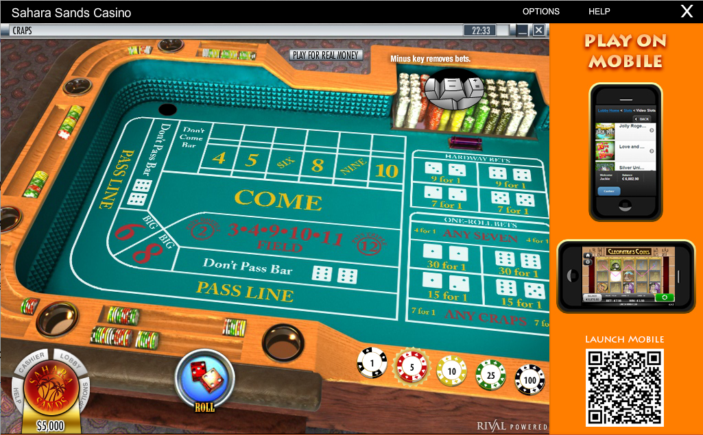 rival craps table