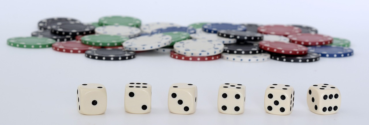 craps dice and chips
