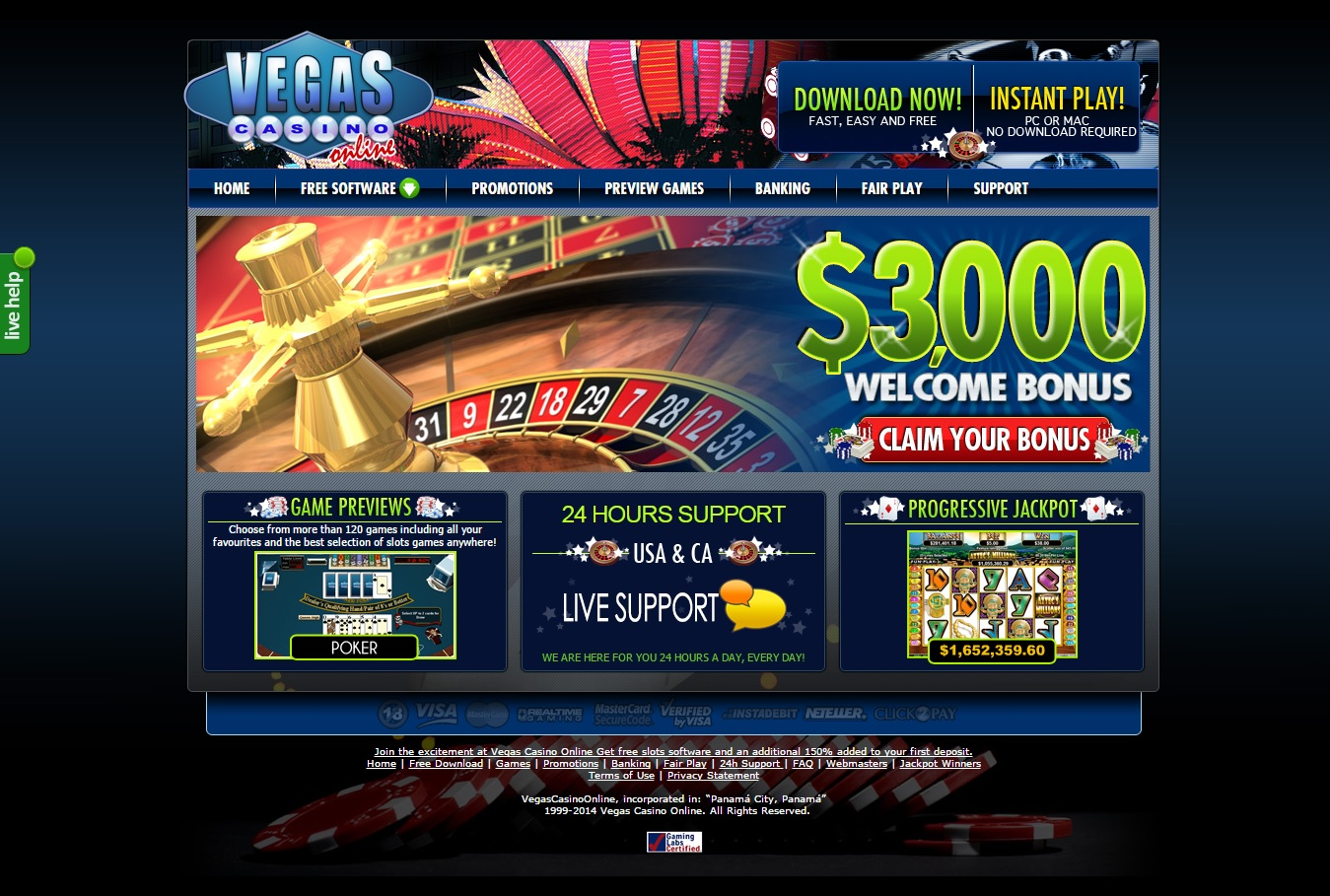 online vegas casino fast money